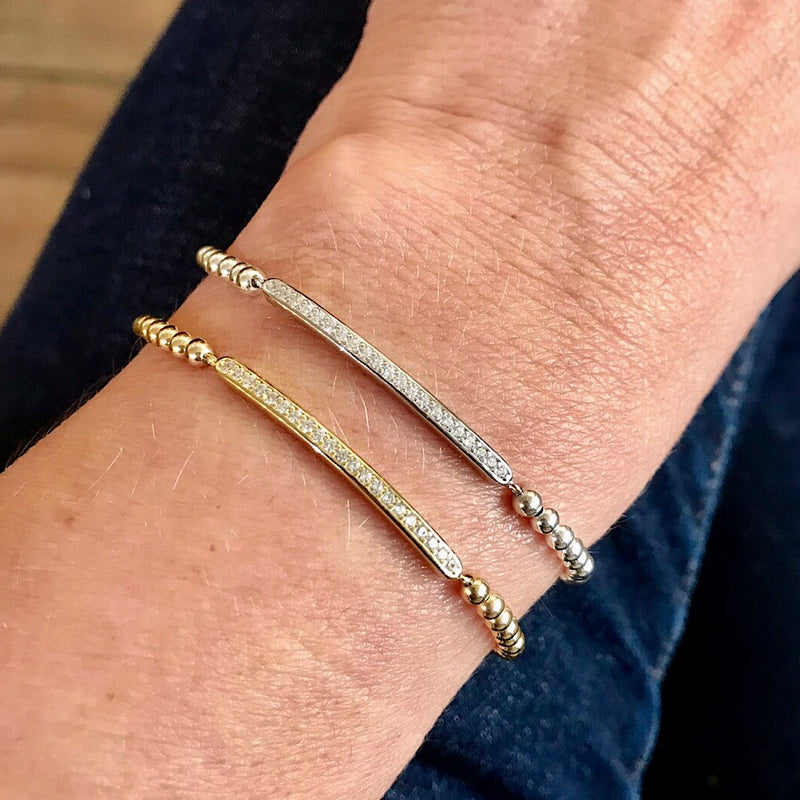 Brooke Pave Stretch Bracelet - Quick Ship