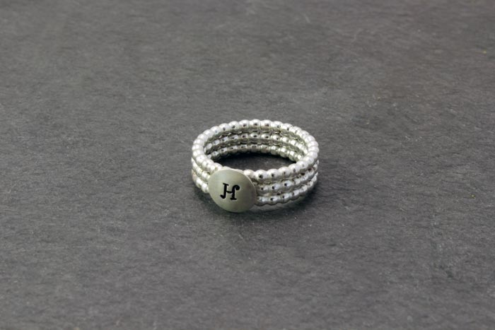 Beaded Initials Ring