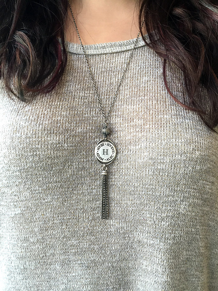Circle of Names Tassel Necklace