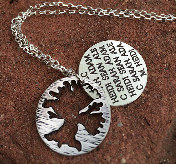 Sterling Family Tree Necklace