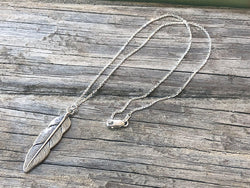Sterling Silver Feather Necklace - Quick Ship