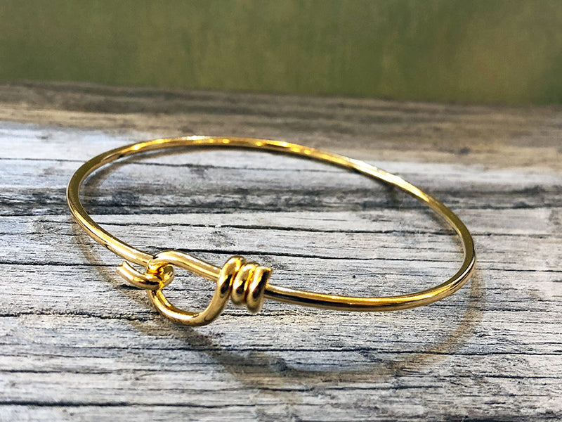 14K Gold Loop Hook Bracelet - Quick Ship