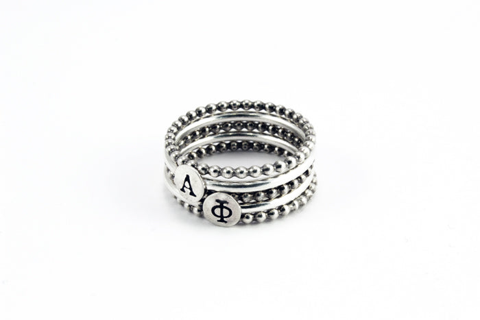 Greek Alphabet Stackable Rings