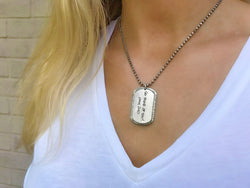Sterling Handwritten Dog Tag Necklace