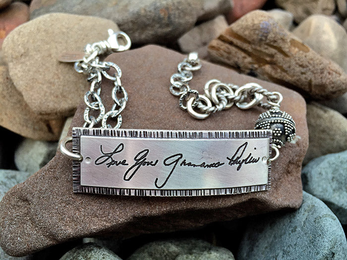 Sterling Handwritten Messages Chain Bracelet