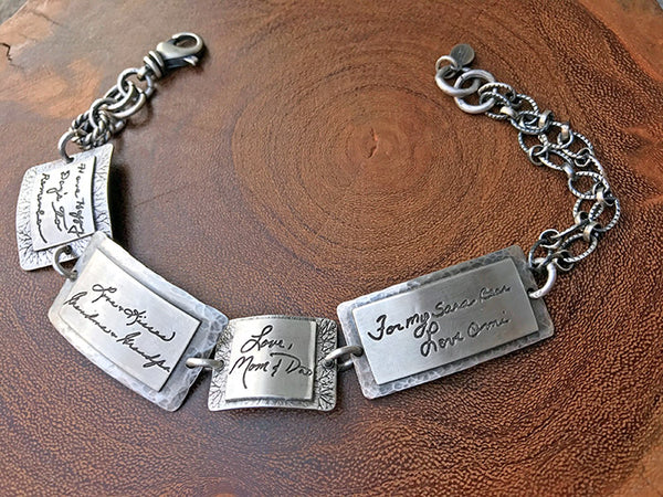 Sterling Handwritten Notes Bracelet
