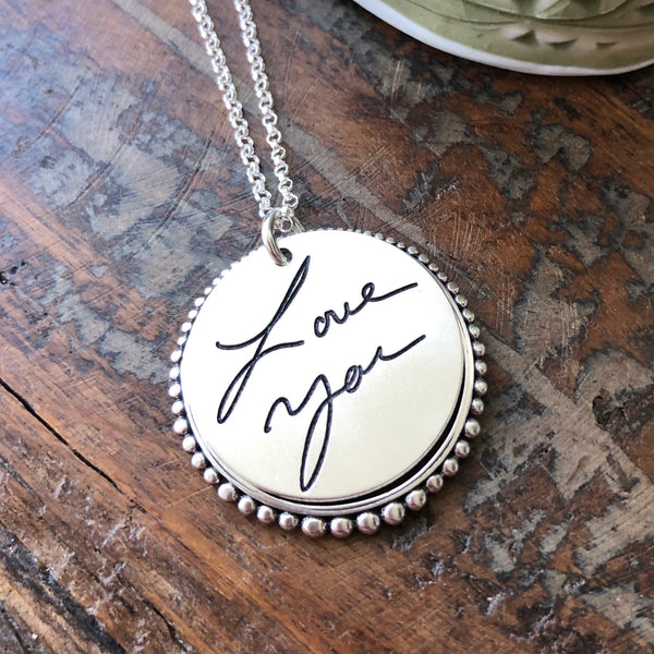Handwritten Message Necklace