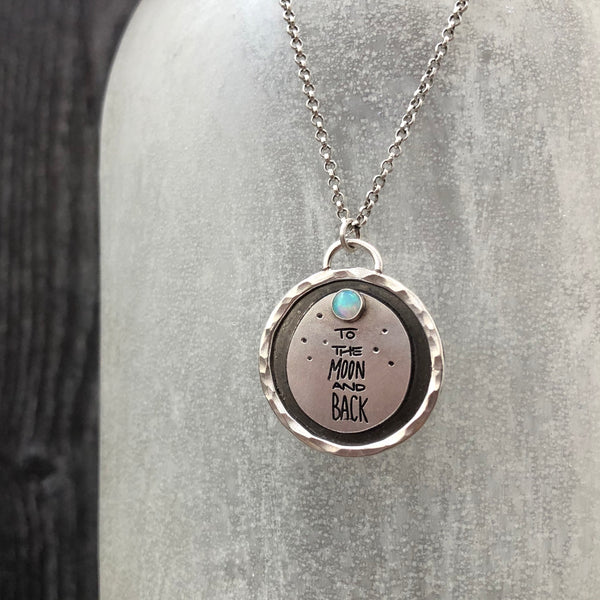 To The Moon And Back Opal Necklace