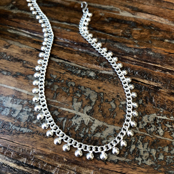 Sterling Silver Droplets Necklace