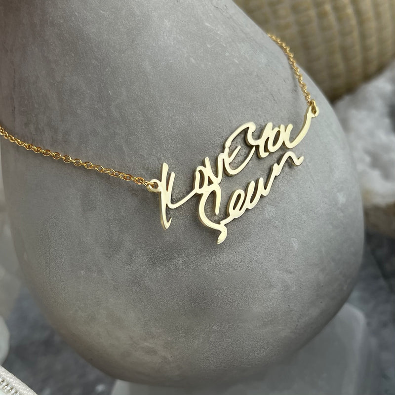 The Silhouette Series - Sterling Silver Handwritten Necklace