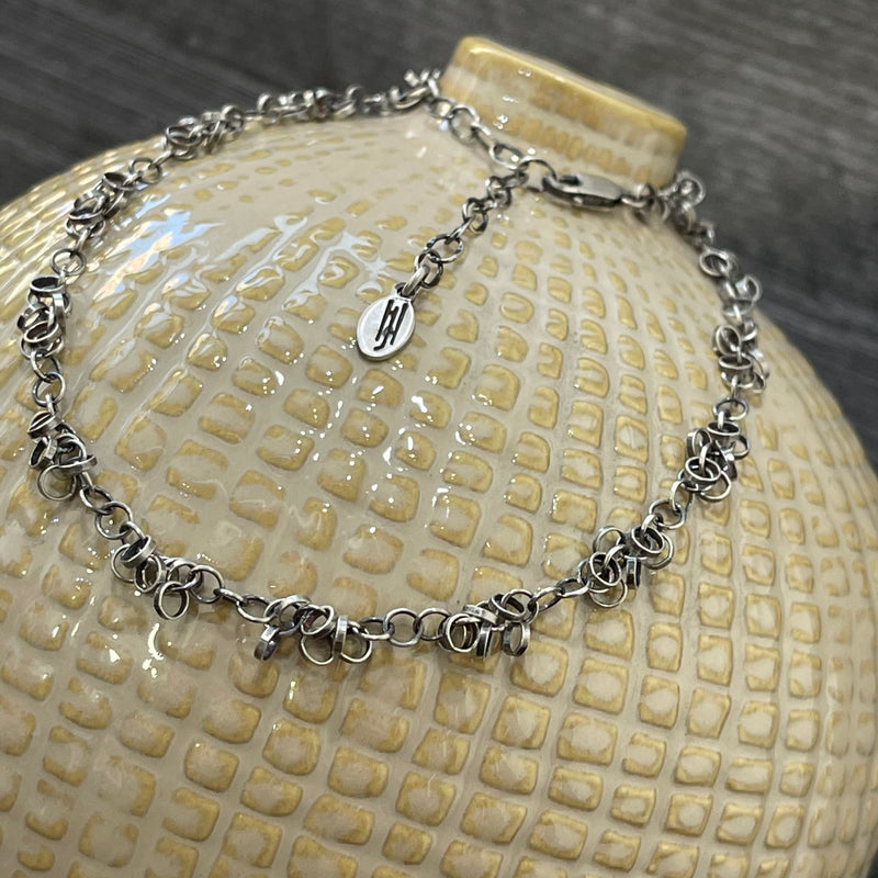 Cluster of Ringlets Sterling Silver Necklace