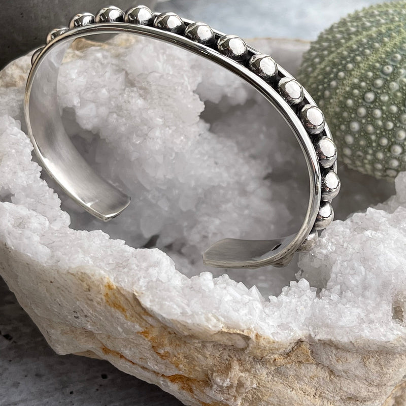Sterling Beaded Cuff - Quick Ship