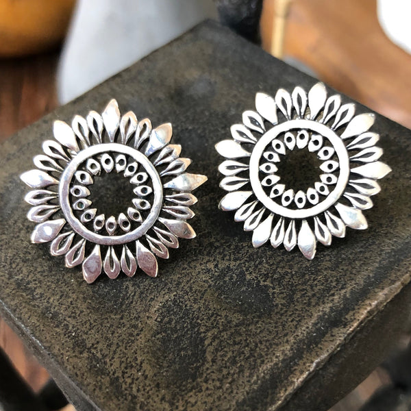 Flower Power Sterling Silver Earrings