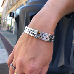 Sterling Silver Droplets Cuff