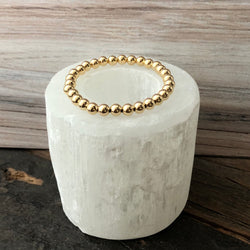 14k Gold Filled Bead Stretch Bracelet