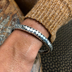 Sterling Silver Dotted Cuff
