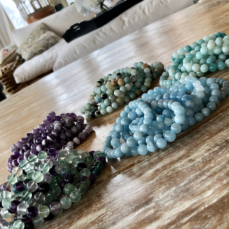 Grade AAA Gemstone Stackable Bracelets
