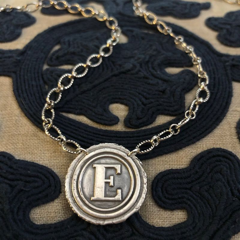 Wax Seal Necklace - Sterling Silver
