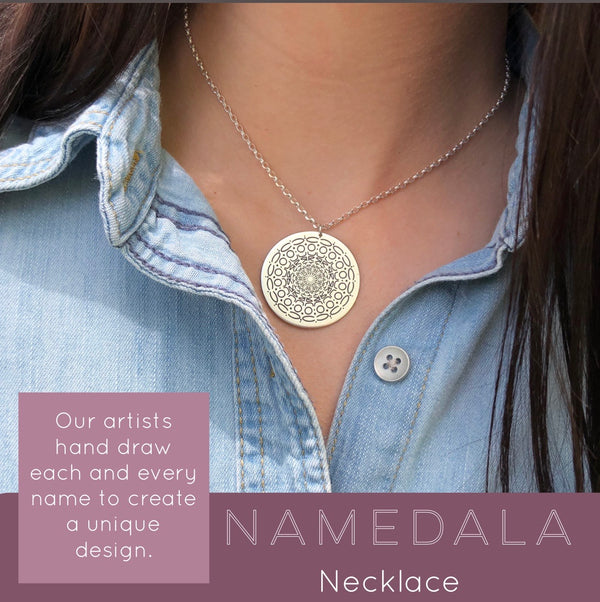 Namedala® - Mandala Name Necklace