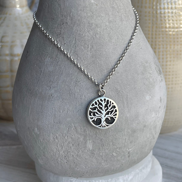Sterling Silver Rooted Tree Necklace