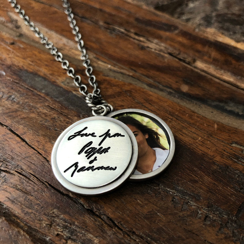 Eclipse Handwritten Necklace - Sterling