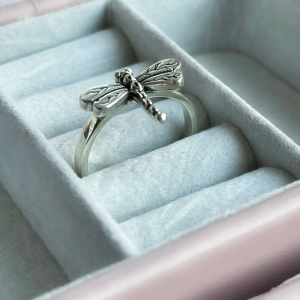 My Sweet Dragonfly Ring - Sterling Silver