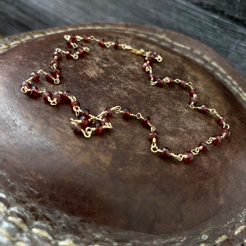 14k Gold Filled & Garnet Necklace