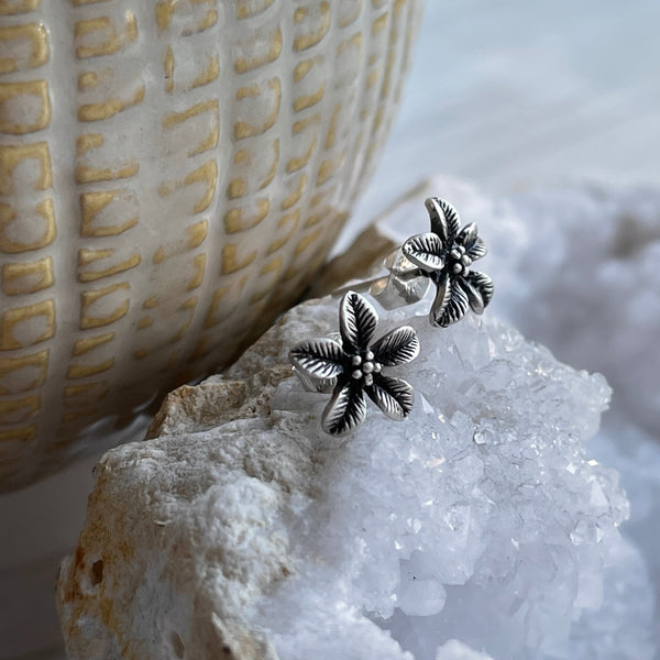 Sterling Silver Blossom Studs
