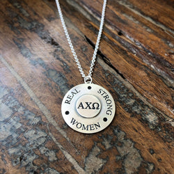 Sterling Real Strong Women Sorority Necklace