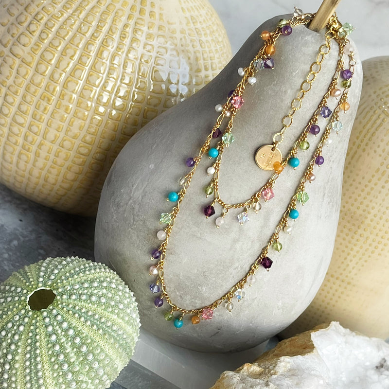 Spring Baubles Gold Filled Necklace
