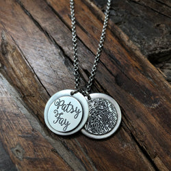 Sterling Silver Fingerprint Necklace