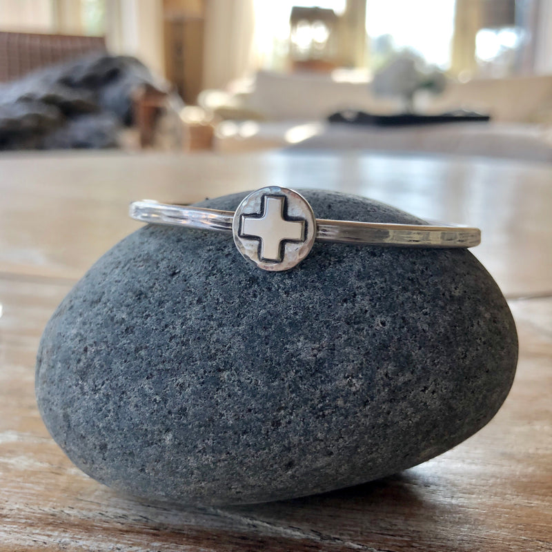 Sterling Silver Cross Cuff