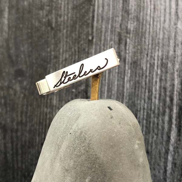 Engraved Sterling Silver Tie Bar