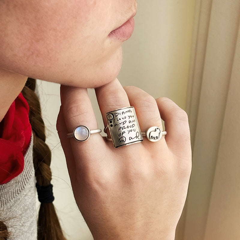 About Me Sterling Silver Ring