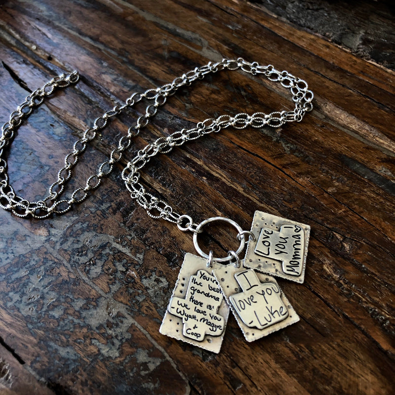 Near and Dear Handwritten Necklace