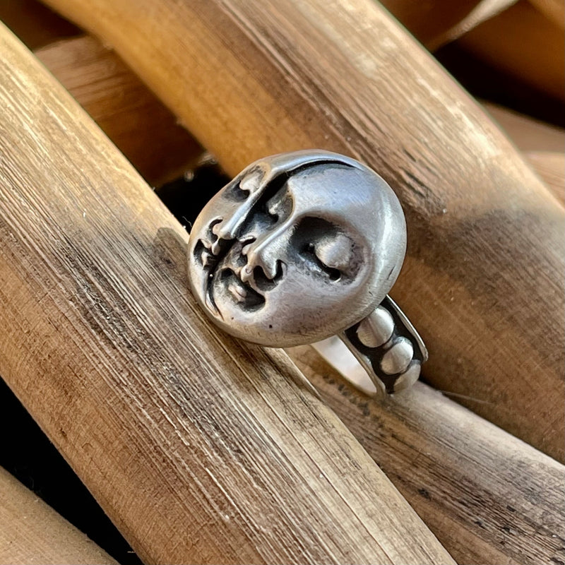 Over The Moon Sterling Silver Ring