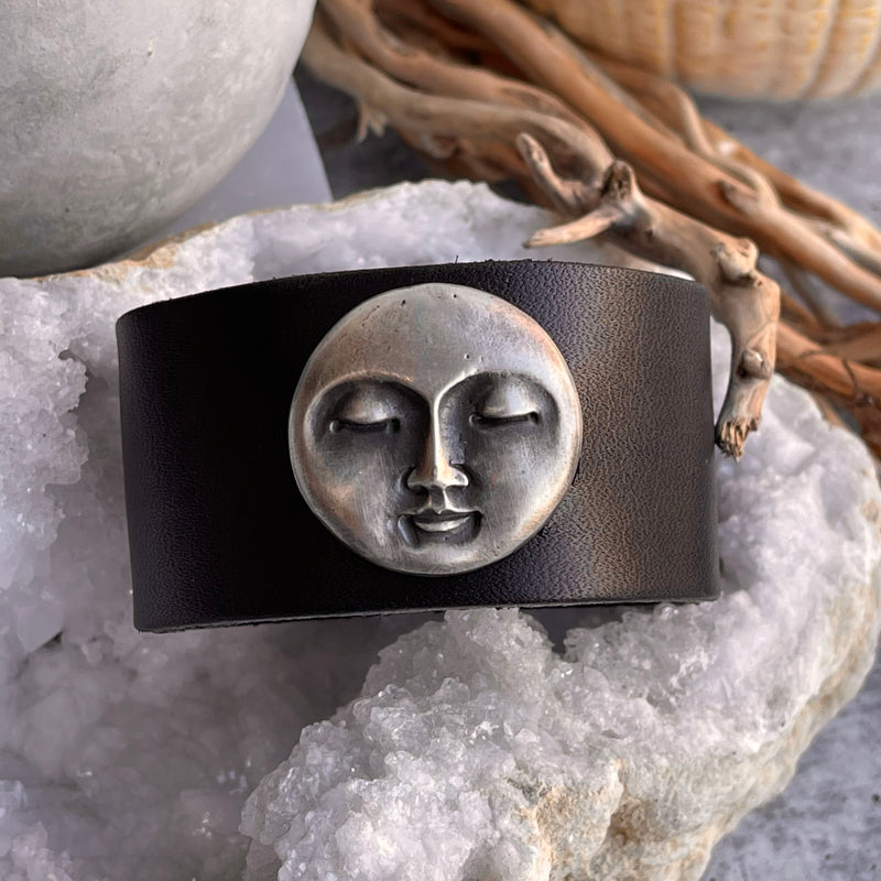 Sterling Silver Moon Cuff