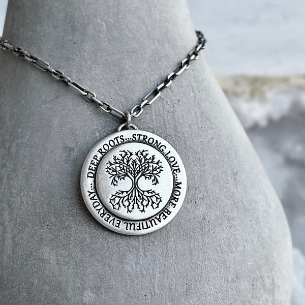 Deep Roots Strong Love - Sterling Silver Necklace