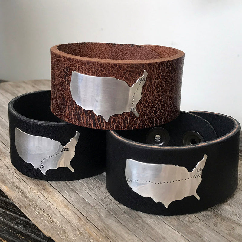 The Journey Leather Cuff