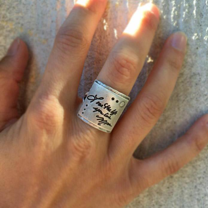 Messages Squared Ring - Handwritten