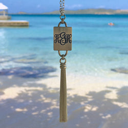 Monogram Tassel Necklace