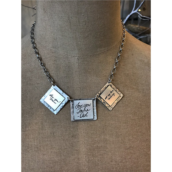 Sterling Handwritten Notes Necklace