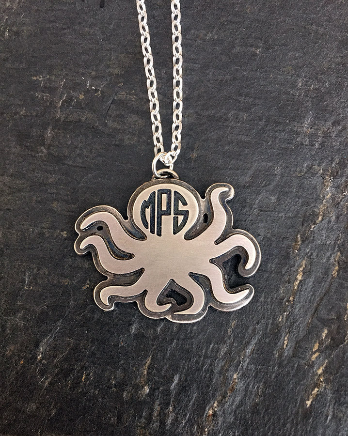 Monogram Animal Sterling Silver Necklace