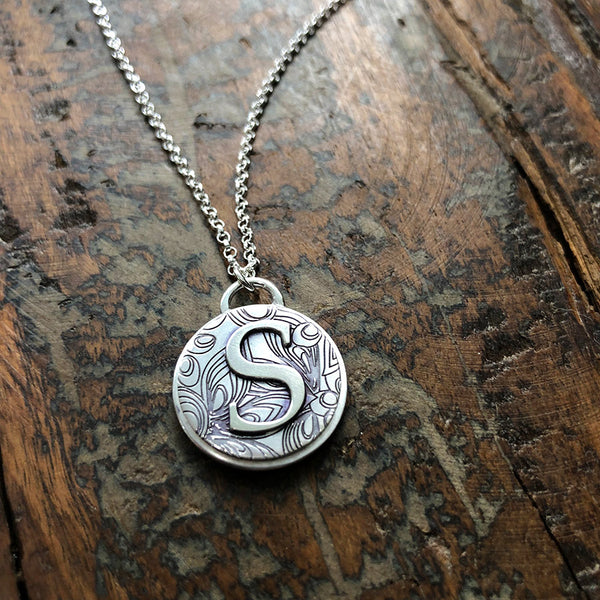 Arrington Initial Necklace - Sterling Silver