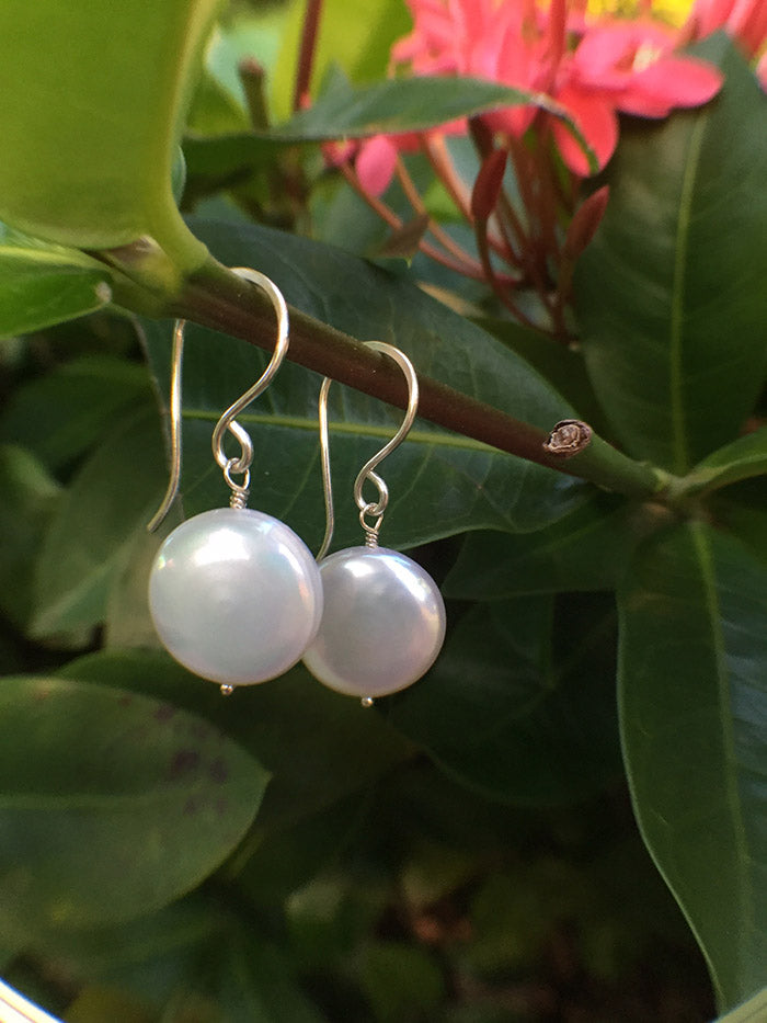 Pearl Coin Earring