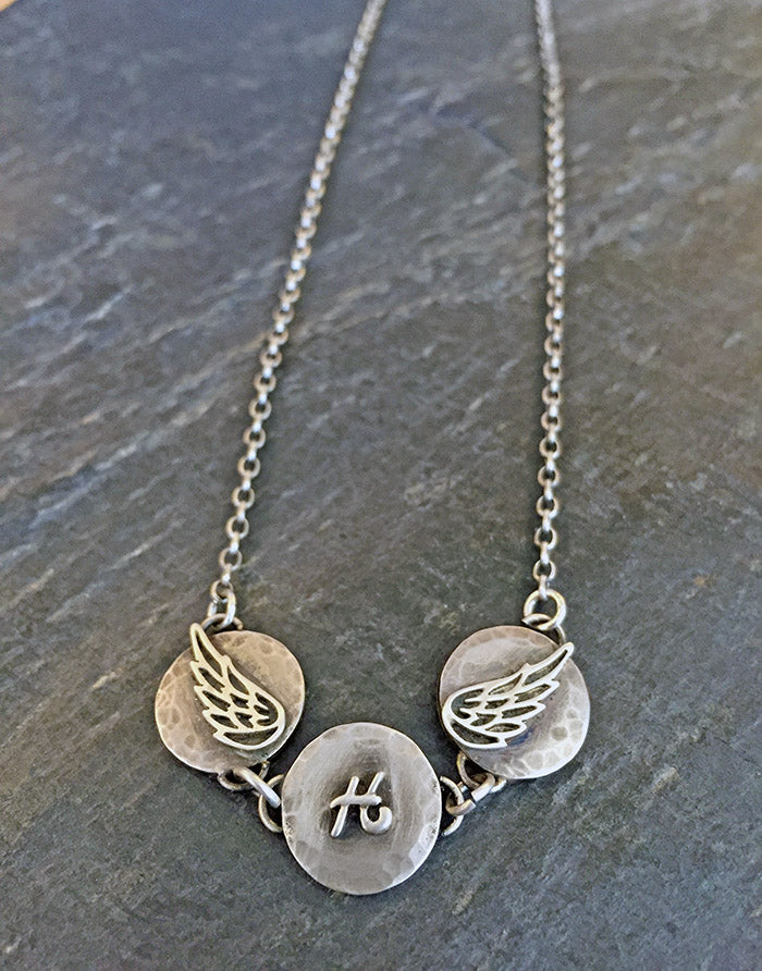 Spread Your Wings Sterling Necklace