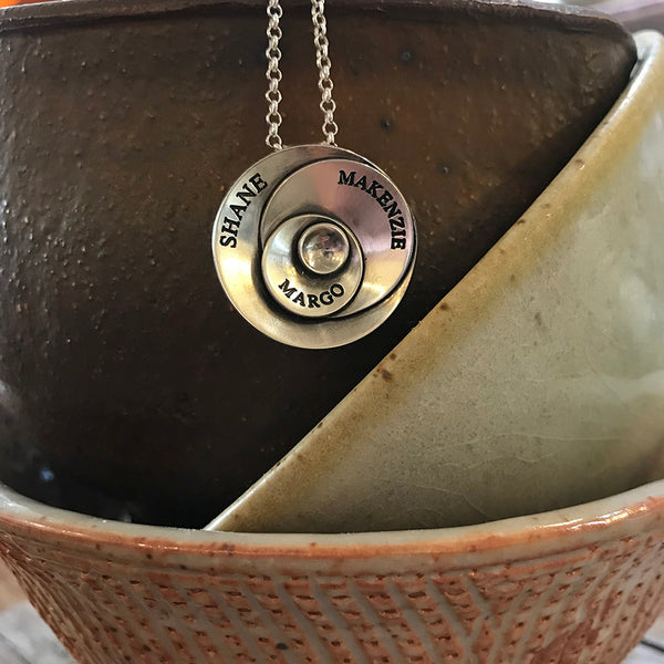 Say it on Bubbles Necklace - Sterling Silver