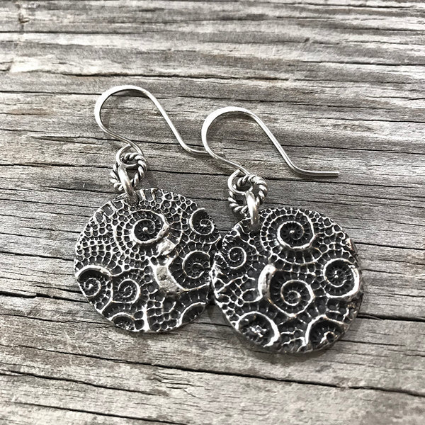 Serpentine Sterling Silver Earrings