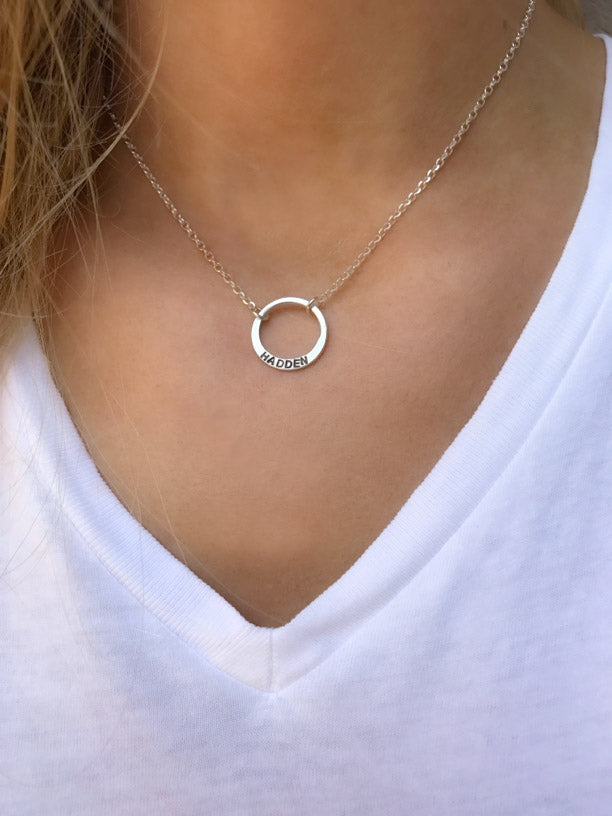 Circle Name Necklace