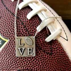 Sports Love Necklace - Sterling Silver